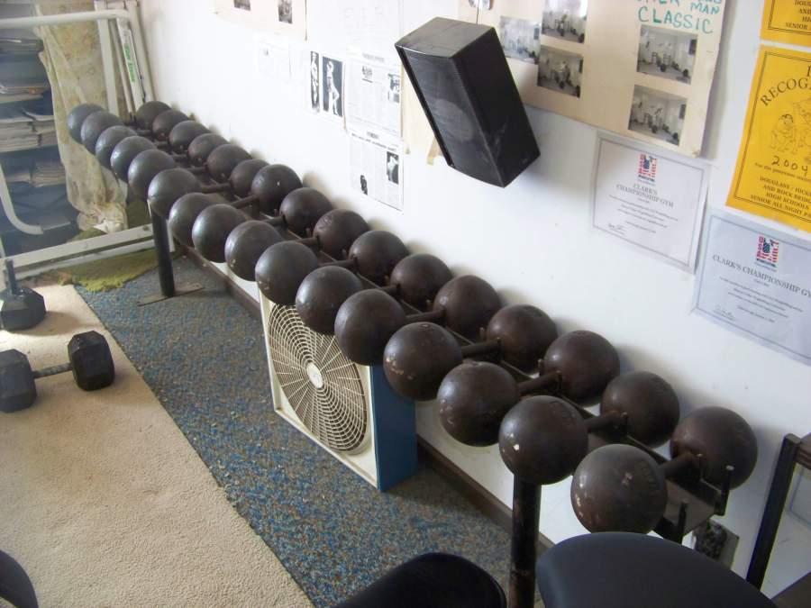 york legacy dumbbells. rack of york globe dumbbells at clark\u0027s gym legacy